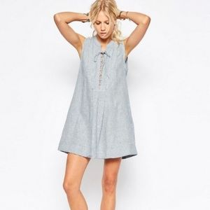 Free People Poppin Off Striped Linen Blend Dress